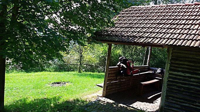 Schutzhütte am grünen Band