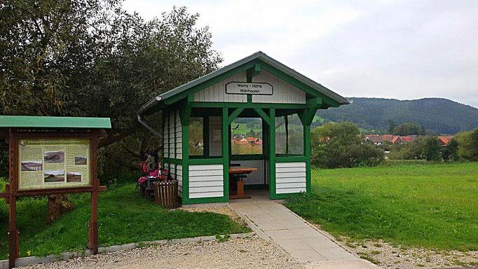 Schutzhütte am Werraradweg