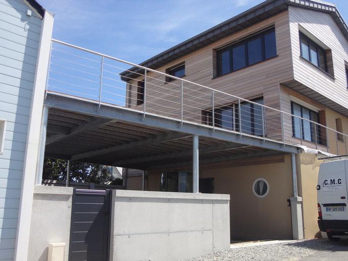 Structure acier galvanisé  terrasse