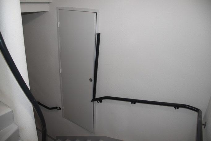 Rampe pour escalier acier thermolaqué  partie amovible