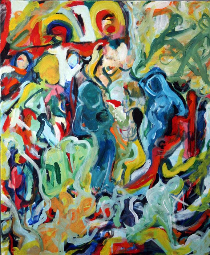 Place Pigalle (50x60cm), Öl auf Leinwand