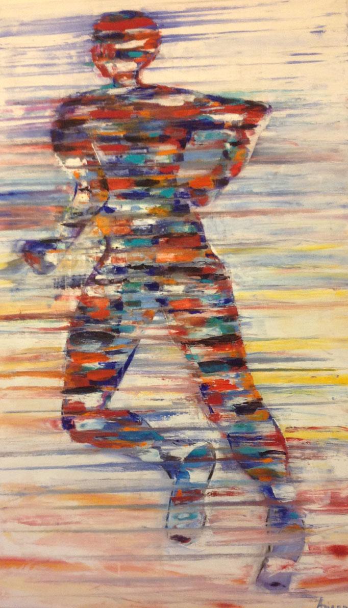 Strandläufer (60x100cm), Öl auf Leinwand