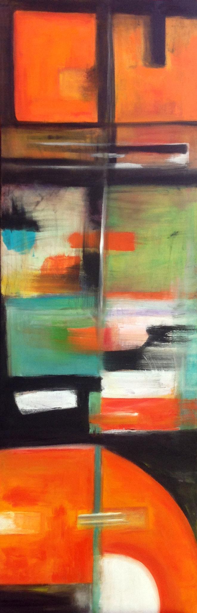 Übergänge (50x150 cm), Öl auf Leinwand
