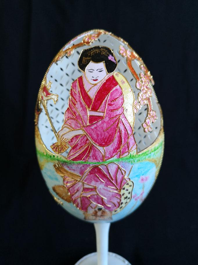 Geisha met spiegelbeeld