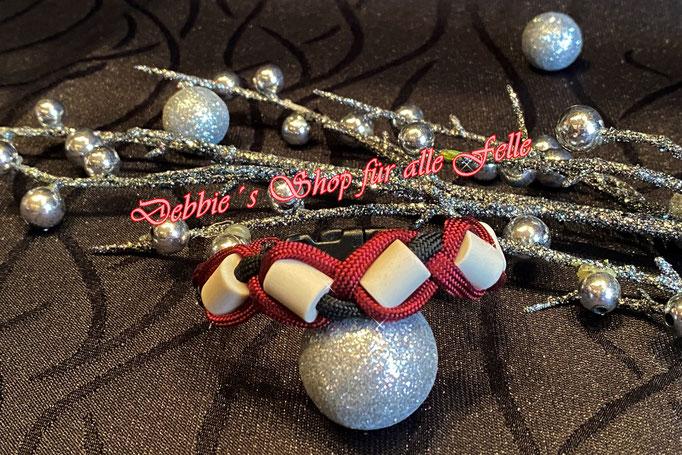 EMK Armband mit Kunststoffverschluss * Größe: 18 cm * Farben: burgundy / black