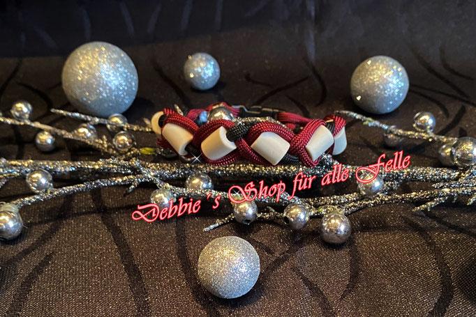 EMK Armband mit Kunststoffverschluss * Größe: 22 cm * Farben: burgundy / black