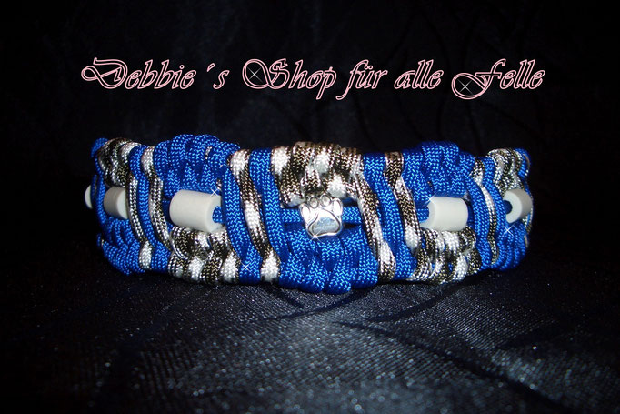 electric blue / white-black camo mit Bead Pfote