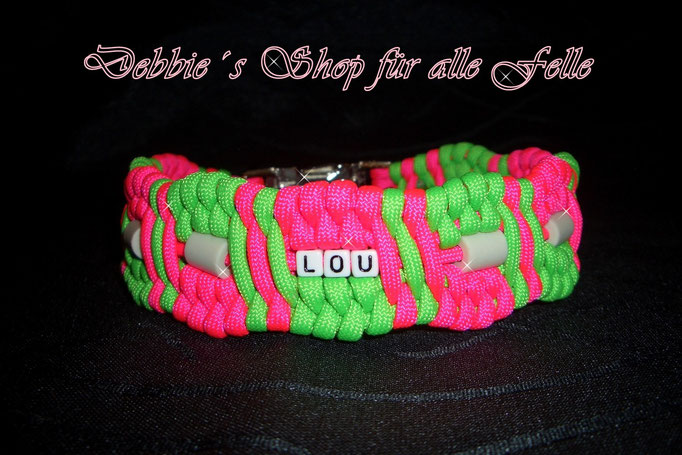 neonpink / neongreen mit Namen