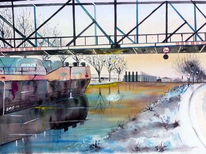 Winter am Rhein-Herne-Kanal