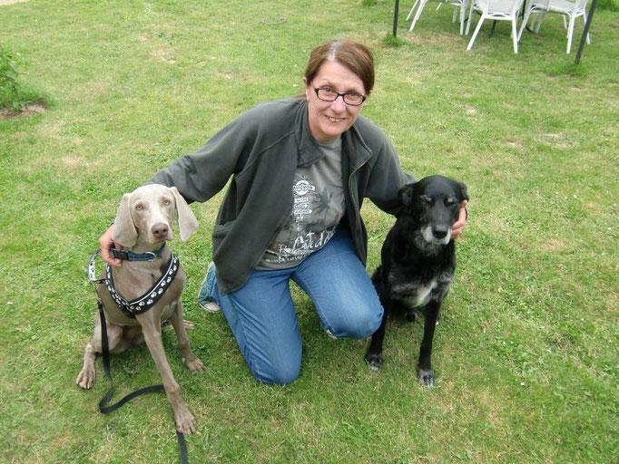 Sabine mit Faya und Luke