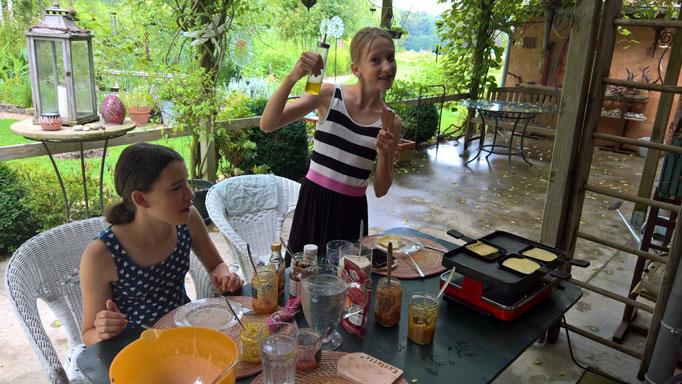 Crêpes vom Raclette-Ofen