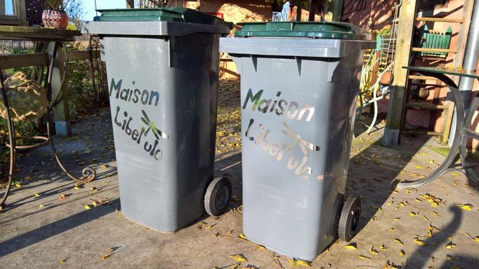 Die Müllkontainer sind nun brav beschriftet