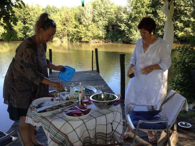 mit Regine bei Barbara zu Besuch