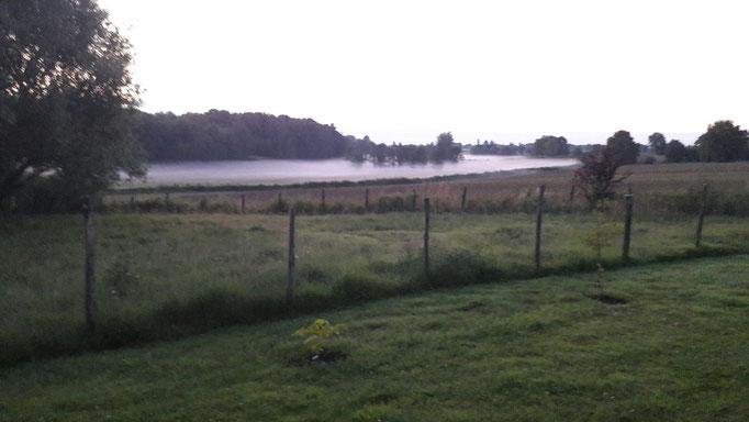 Davor schleicht sich manchmal ein Nebel durchs Täli