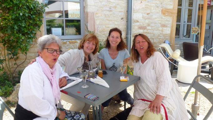 Besuch in Chapaize mit Barbara, Conny und Rita
