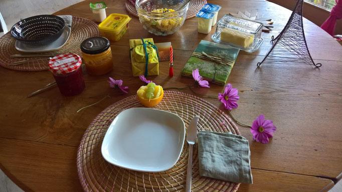 Geburri-Frühstück - dank Thomas und Angela