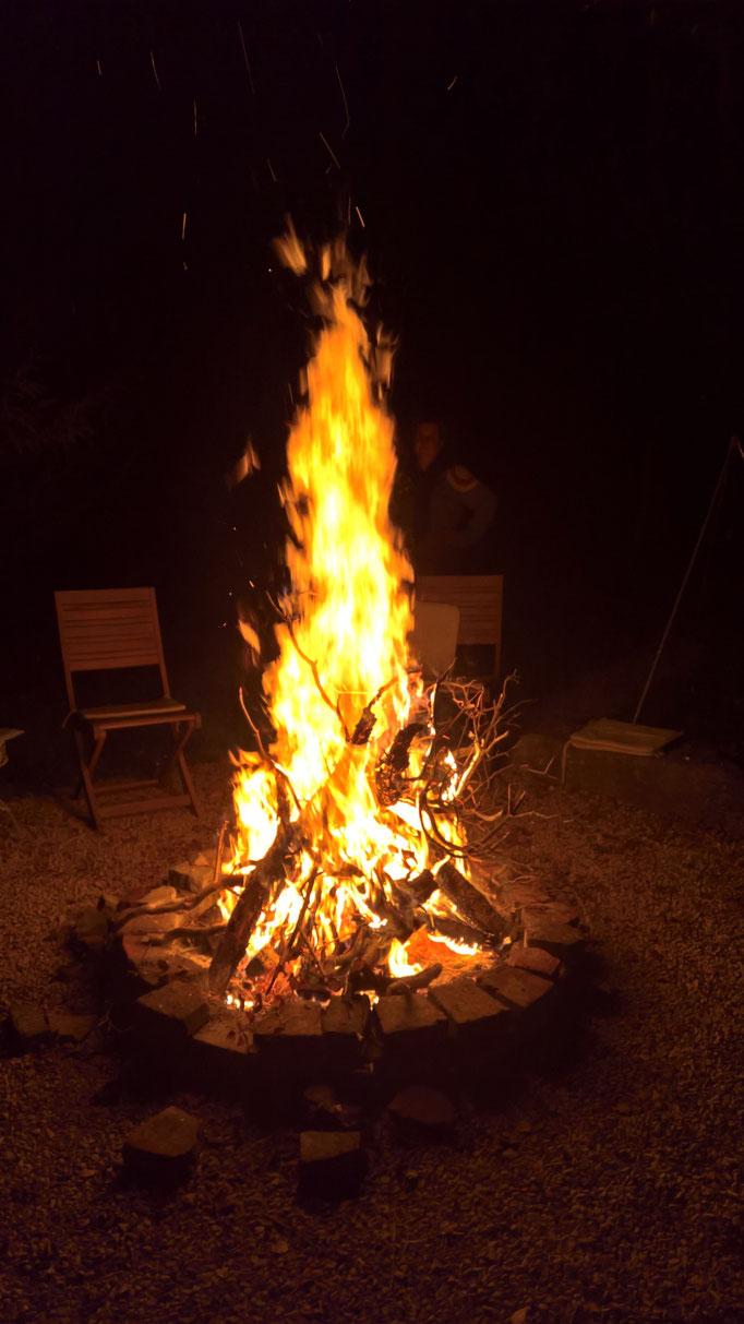 Und später ein schönes Feuerchen