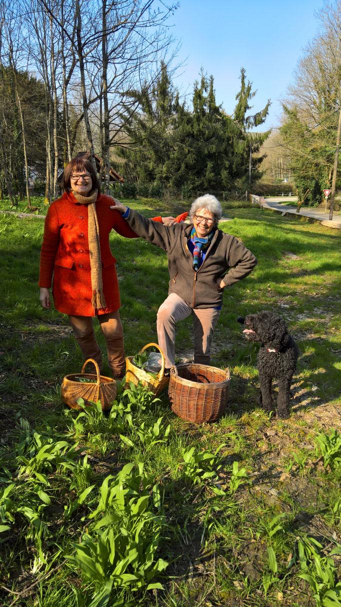 Bärlauchzeit - mit Mathilde und Barbara und Amir