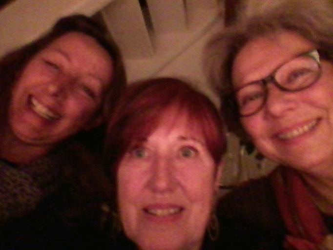 ein Selfi von mir, Regine und Barbara