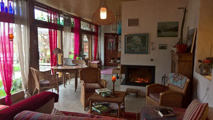Die Veranda, neu mit den Möbeln von Regula