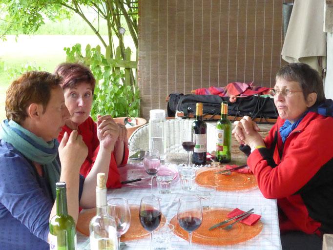 ... mit Marie-Luise, Nicole und Regine