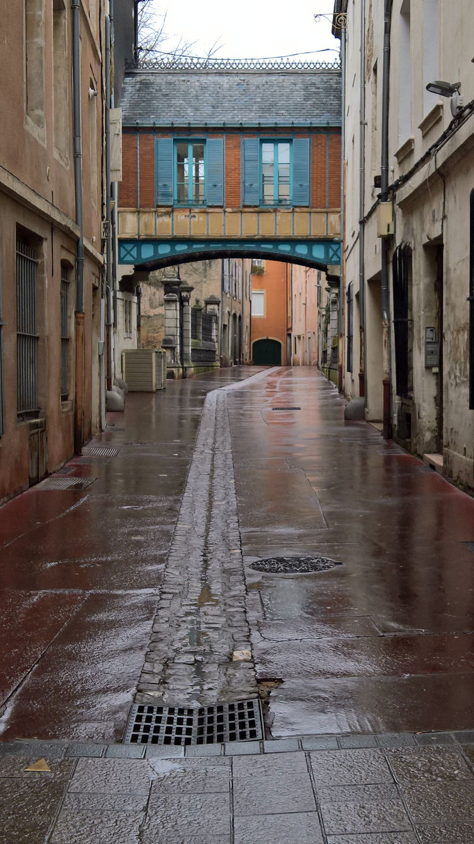 Eine Gasse in Paray-le-Monial