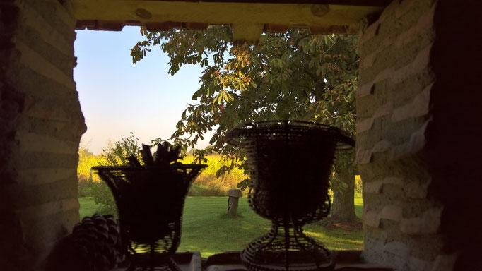 Blick aus dem Fenster der Aussentoilette
