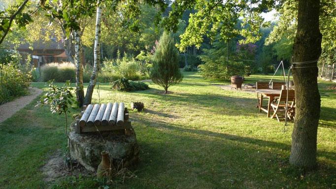 Das Baumxylophon und der Grillplatz
