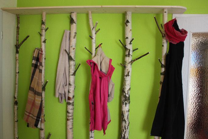 Garderobe für Jacken