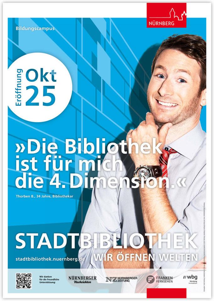 Plakatkampagne Stadtbibliothek - Motiv 5