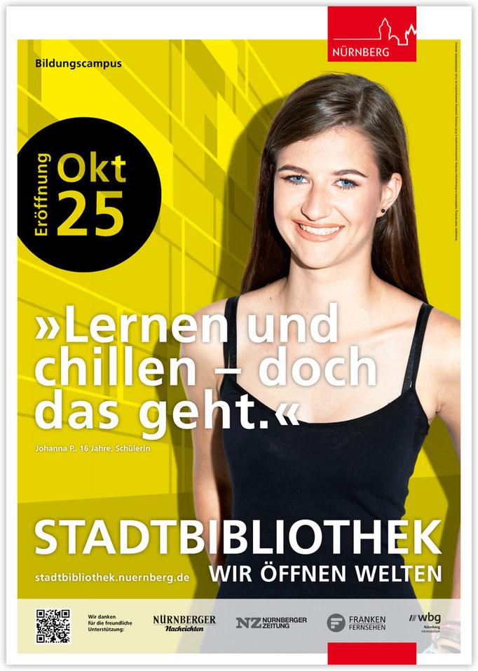 Plakatkampagne Stadtbibliothek - Motiv 2