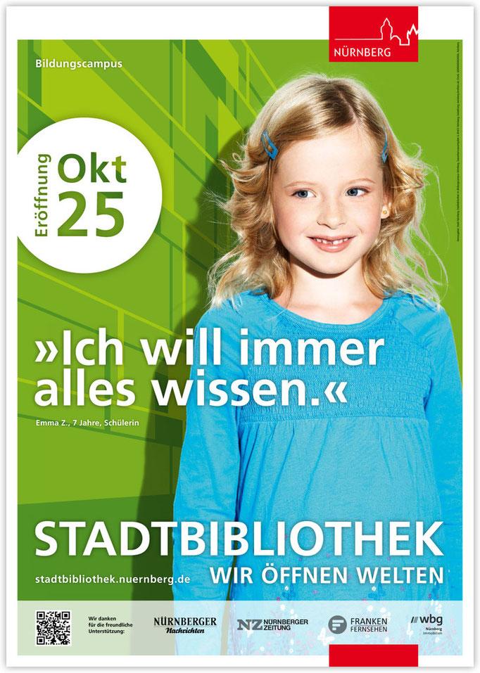 Plakatkampagne Stadtbibliothek - Motiv 1
