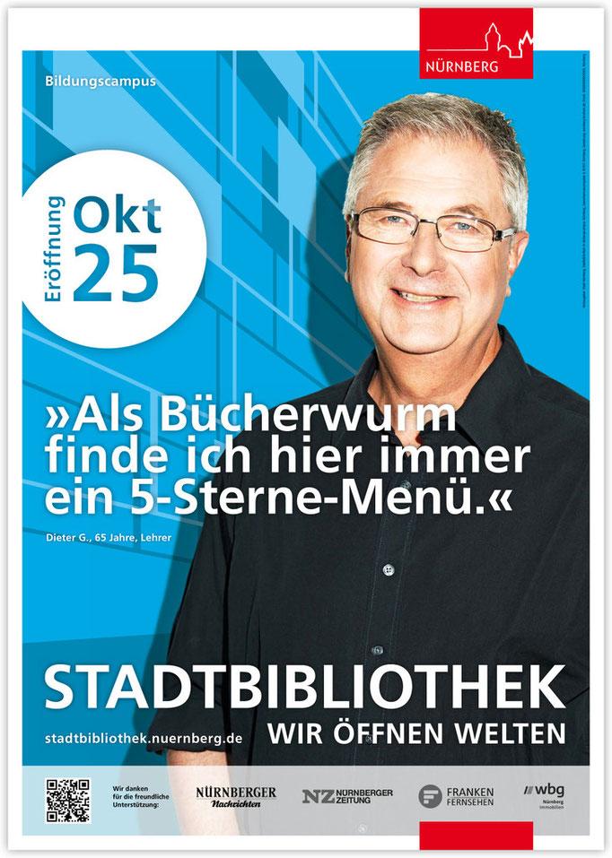 Plakatkampagne Stadtbibliothek - Motiv 3