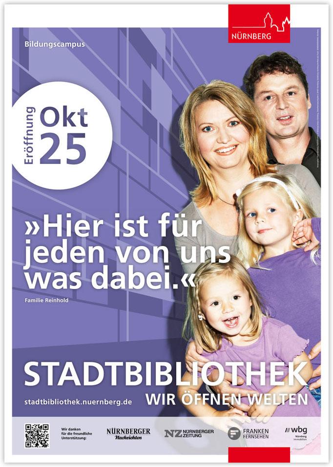 Plakatkampagne Stadtbibliothek - Motiv 4
