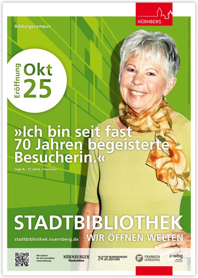 Plakatkampagne Stadtbibliothek - Motiv 6