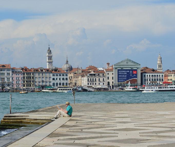 Tekenen in Venetië.