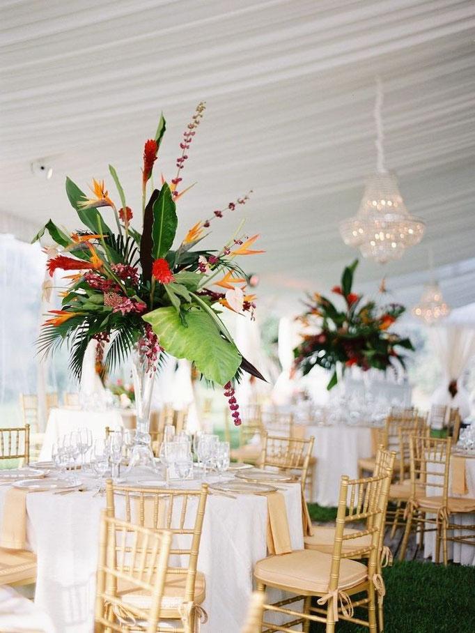 Bouquets de table haut de gamme