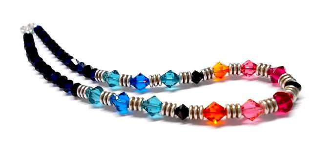 Kette glitzernd Kristallkette