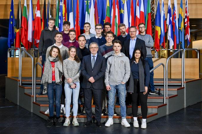 Besuch der Leibnizschule aus Wiesbaden am 13. Februar.