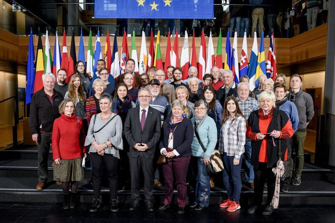 Besuch der Gruppe der JU und CDU Darmstadt am 18. Dezember 2019.
