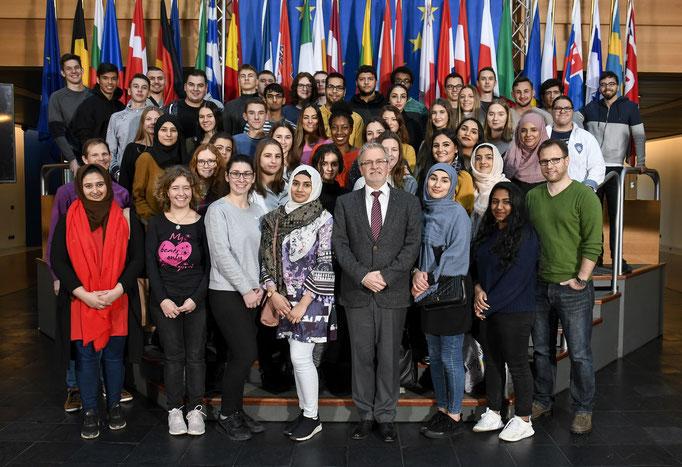 Besuch der Gustav-Heinemann-Schule am 14. Januar.