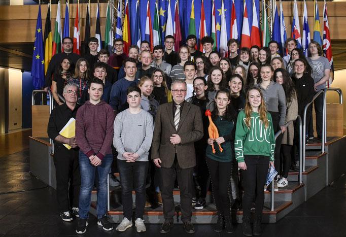 Besuch der Goetheschule Dieburg am 13. März.