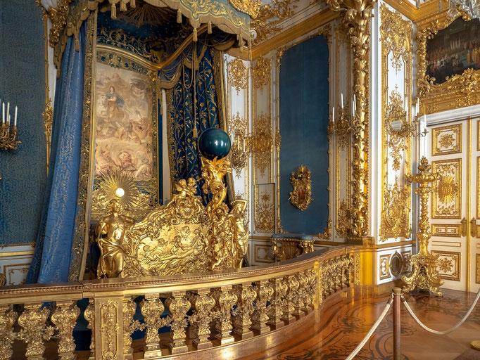 Das private Schlafzimmer des Königs
