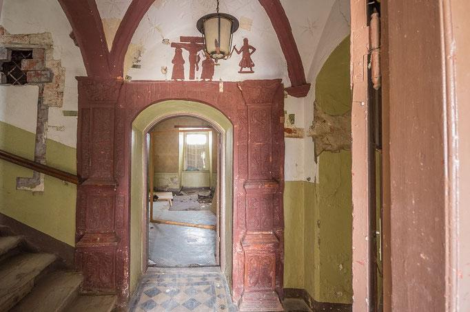 1. Etage: Durchgang vom Treppenhaus in die Räume