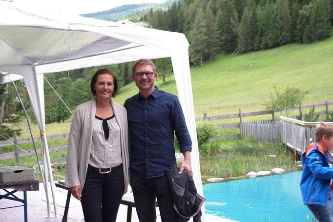 Unsere Gastgeber - Margit und Wolfgang Schneeweiß