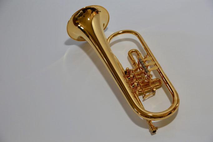 Flügelhorn vergoldet