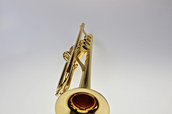 B-Trompete/Jazz-Trompete mit Perinetventilen, vergoldet