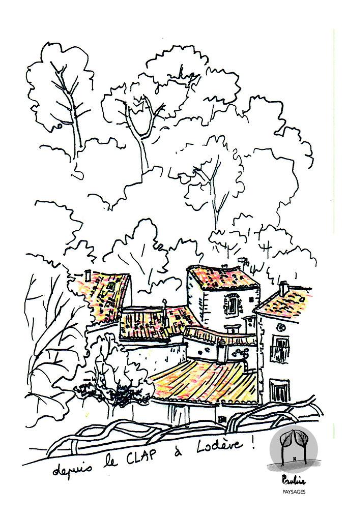 La vue depuis le CLAP de Lodève sur le quartier Montbrun
