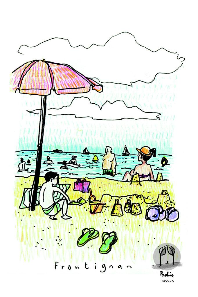 La plage de Frontignan du littoral méditerranéen