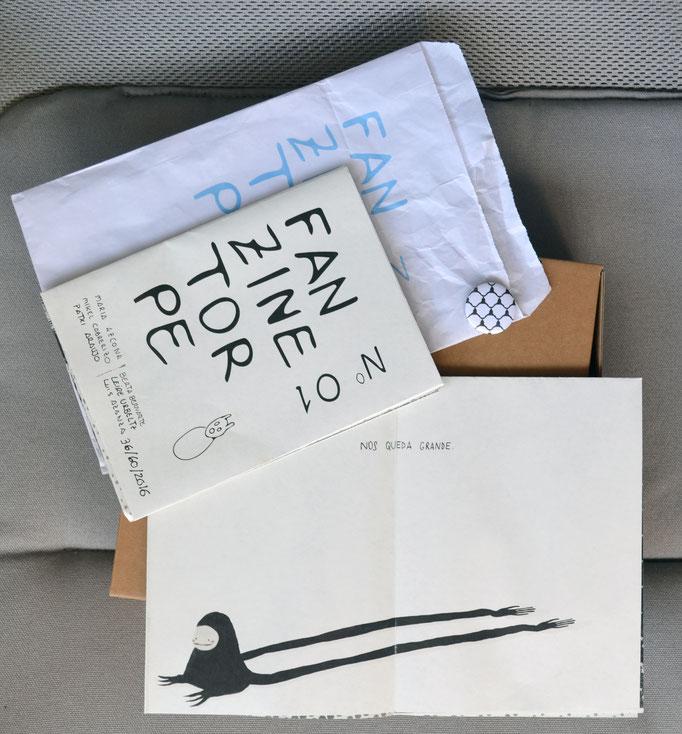 Fanzine Torpe 01 (María Azcona, Mikel Cabrerizo, Patxi Araujo, Berta Bernarte, Leire Urbeltz y Luiz Azanza). maría azcona 2016